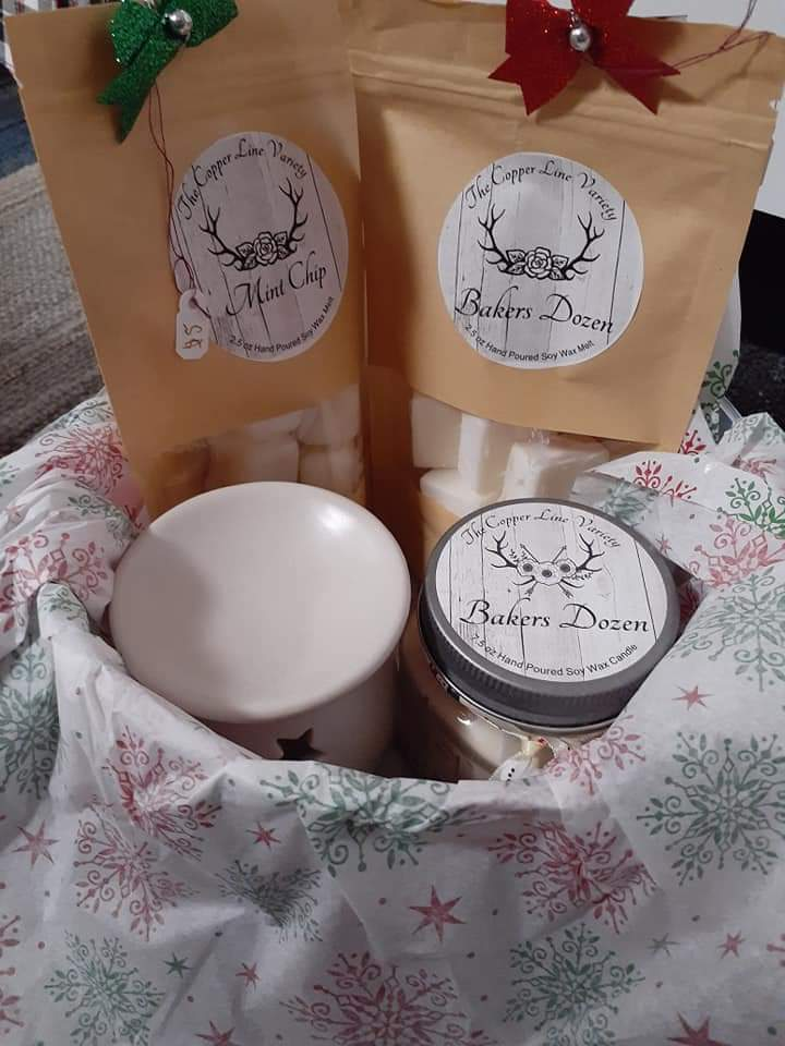 hand poured candles and wax melts