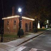 historic jail holiday lights